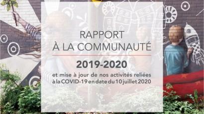 Nos investissements en 2019-2020