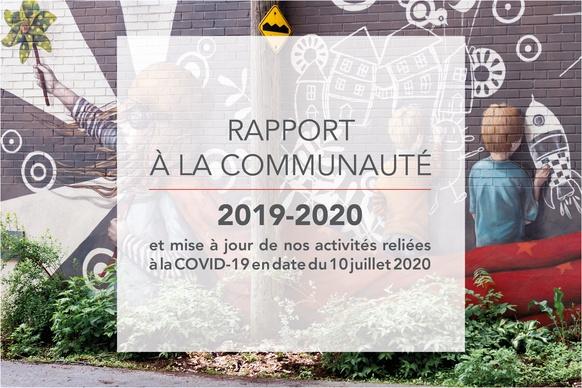 Rapport à la communauté 2019-2020