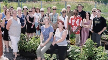 A cooperative garden project brings together the community
